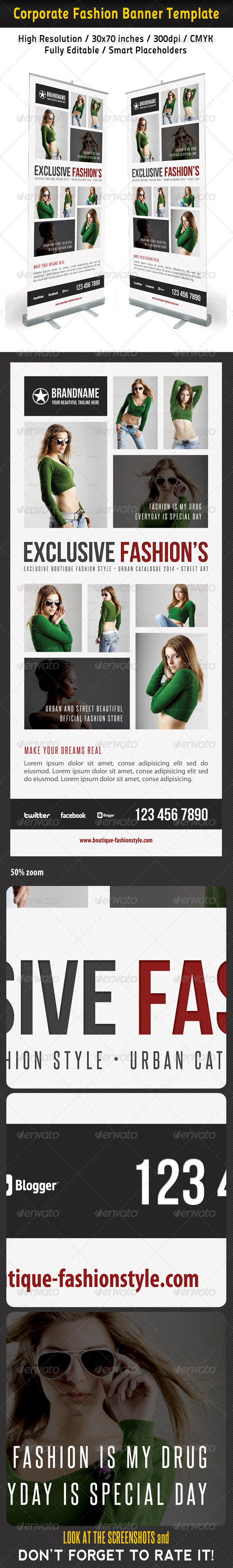 Fashion Multipurpose Banner Template 34 - Signage Print Templates