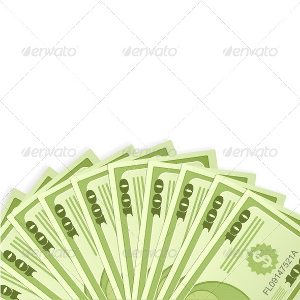 Dollar Banknotes Background  - Business Conceptual