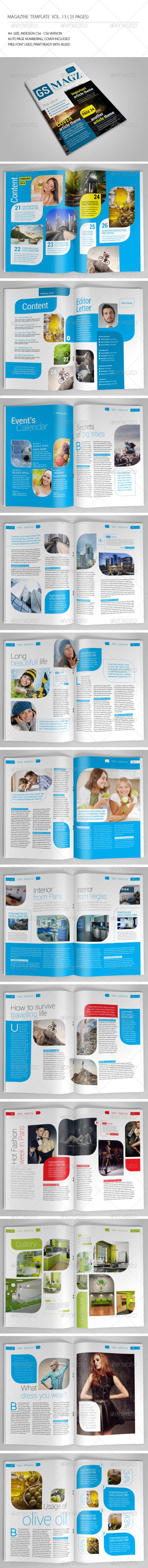25 Pages Clean Magazine Vol13 - Magazines Print Templates