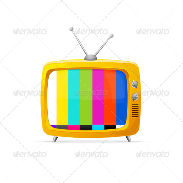 Illustration of Retro TV - Retro Technology