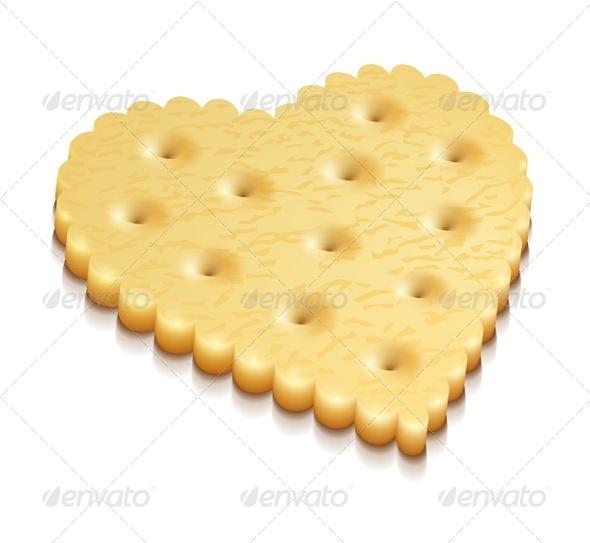 Heart Crisp Cookie Snacks - Miscellaneous Vectors
