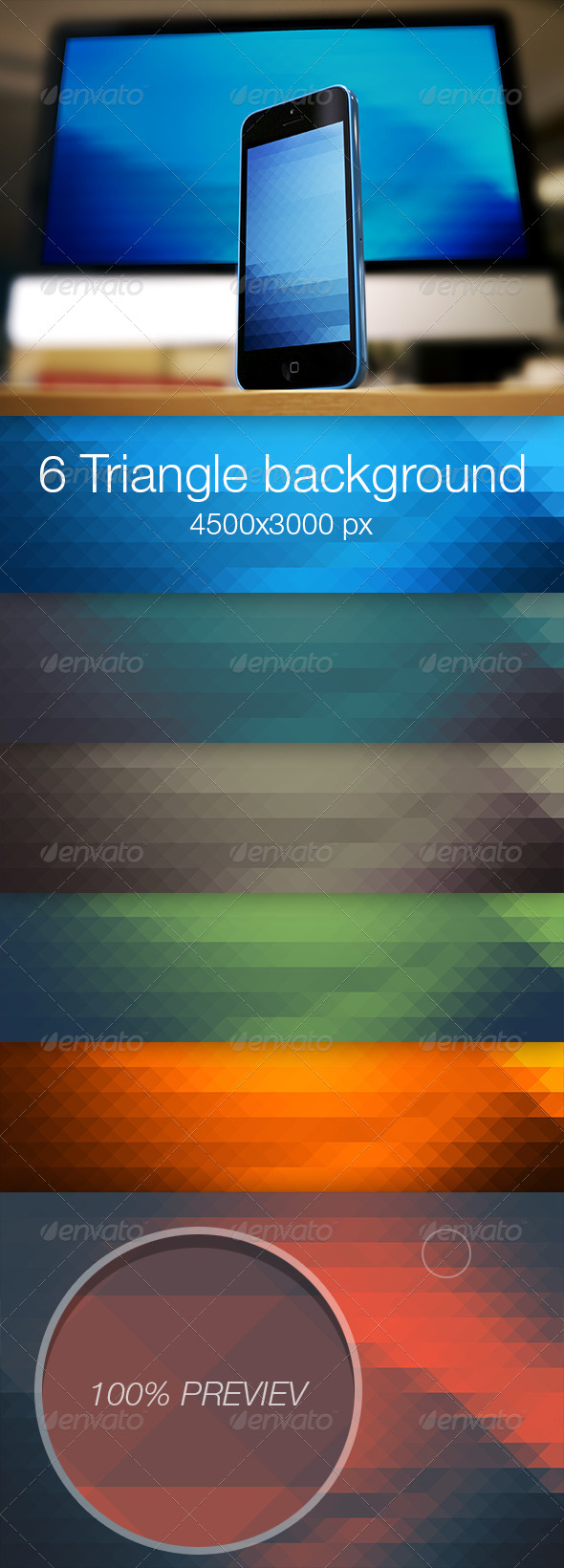 Triangle colored background vol.2 - Abstract Backgrounds