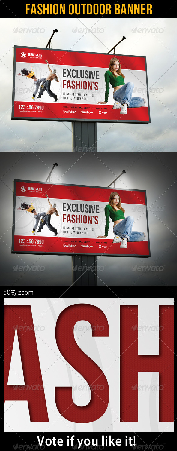 Fashion Outdoor Banner 19 - Signage Print Templates