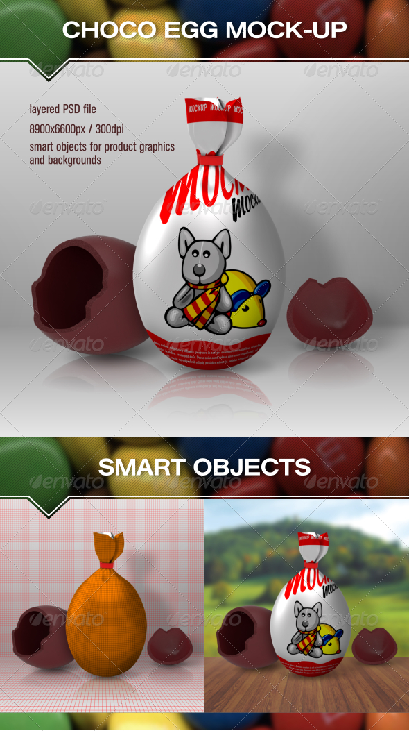 Choco Egg Mock Up - Food and Drink Packaging