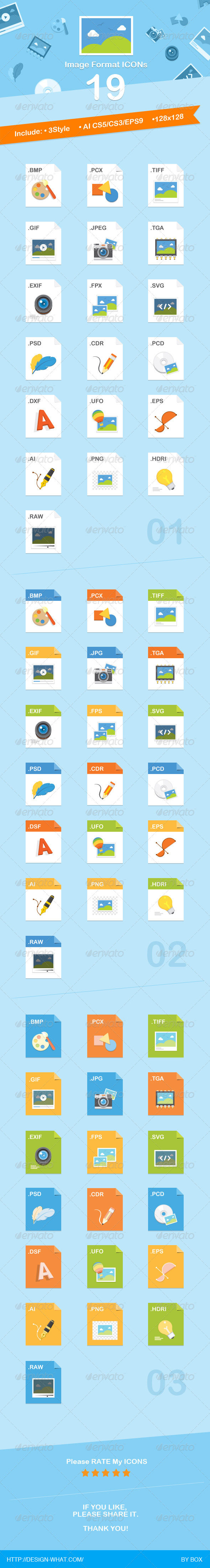 19 Image Format Icons - Web Icons