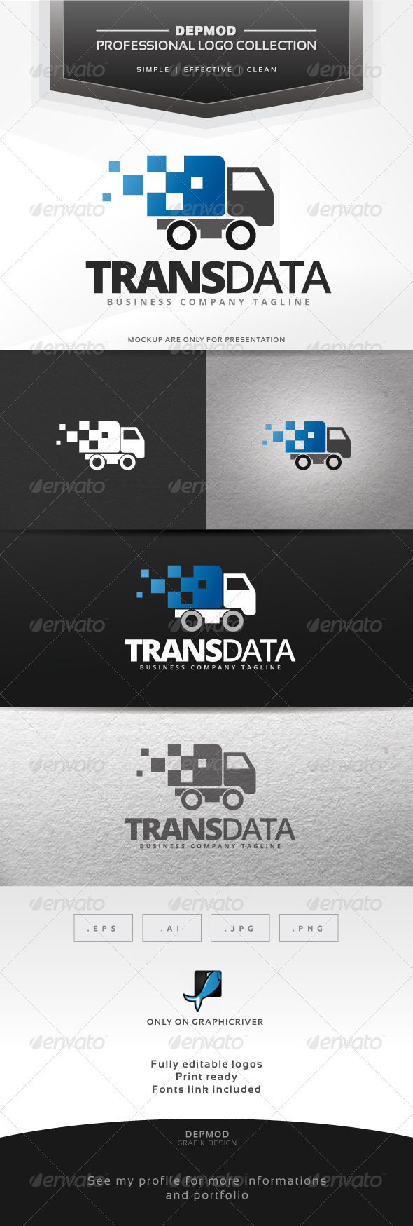 Trans Data Logo - Symbols Logo Templates
