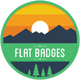 Flat Badges - GraphicRiver Item for Sale