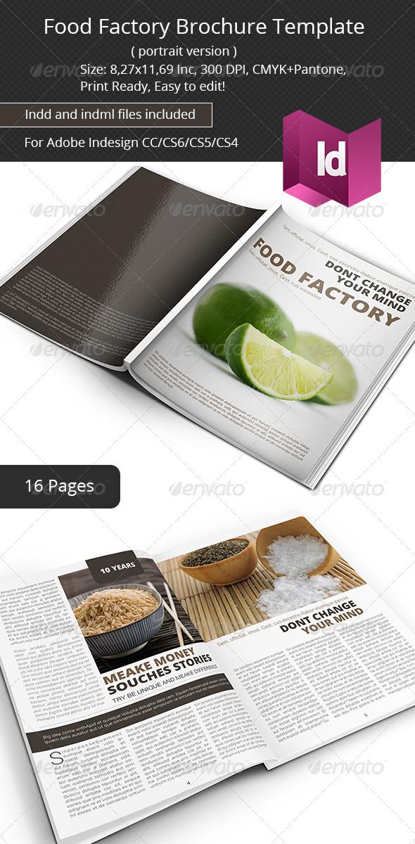 Food Factory Brochure Template - Portfolio Brochures