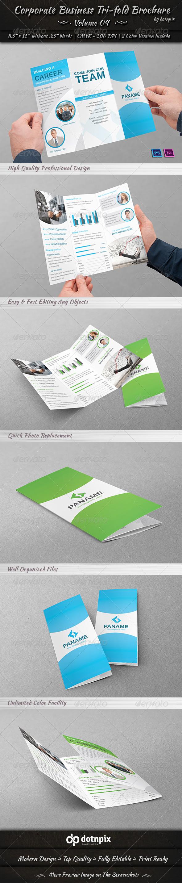 Corporate Business Tri-fold Brochure | Volume 4 - Corporate Brochures