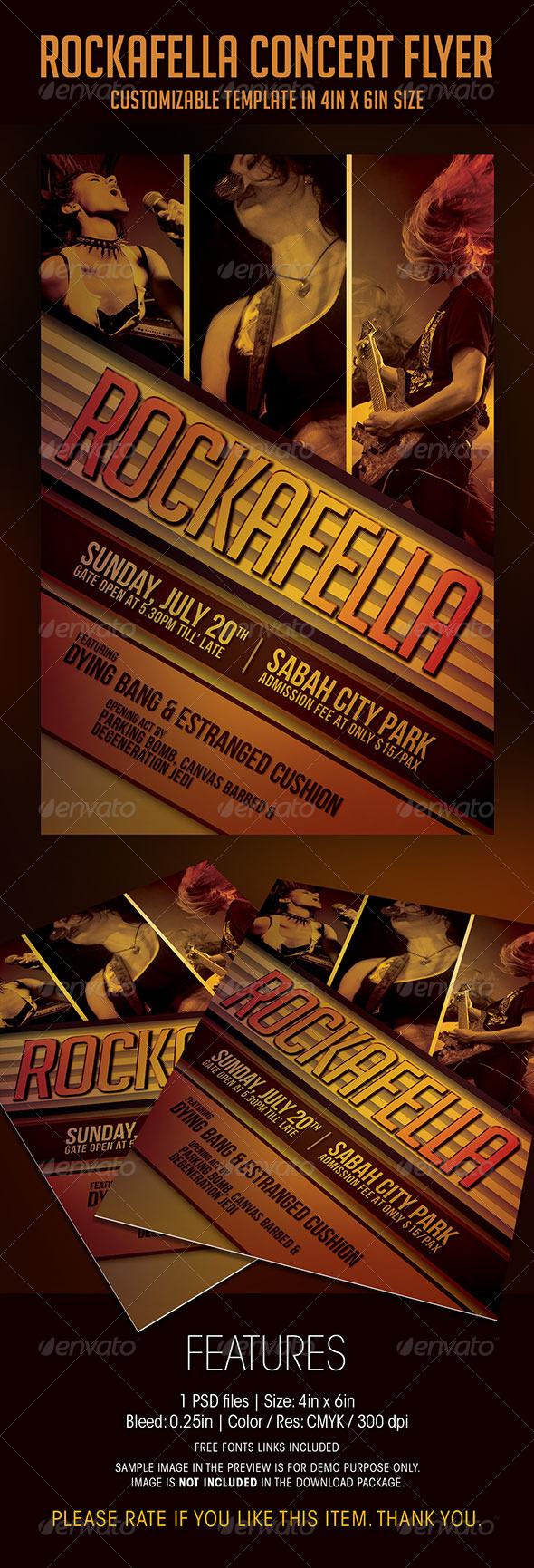 Rockafella Concert Flyer - Concerts Events
