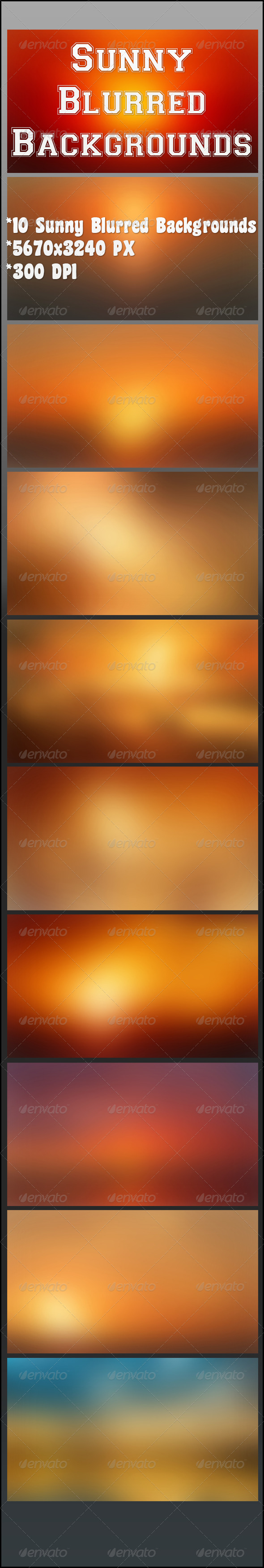 Sunny Blurred Backgrounds - Backgrounds Graphics