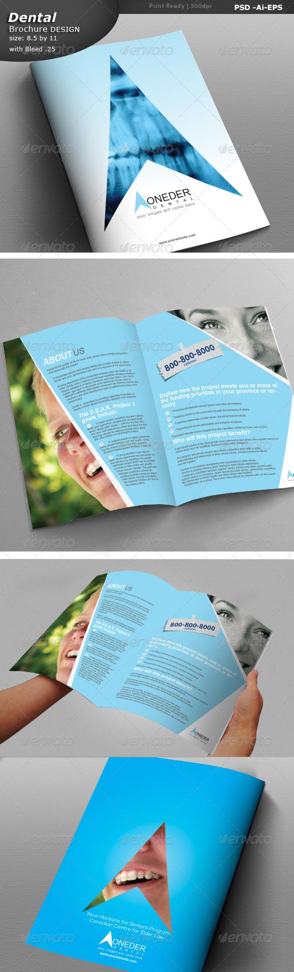 Dentist Brochure Design  - Brochures Print Templates