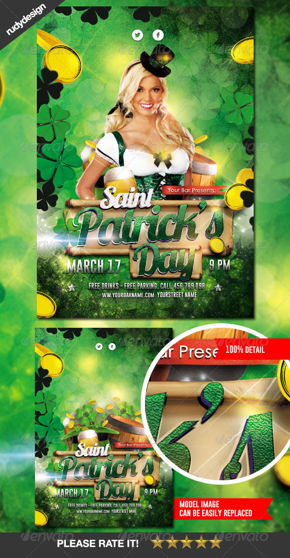 Saint Patrick's Day Flyer Design - Clubs & Parties Events