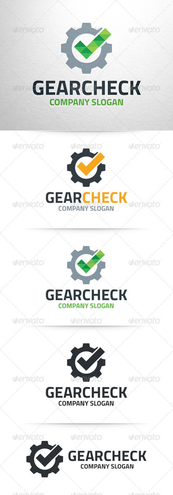 Gear Check Logo Temlate - Symbols Logo Templates