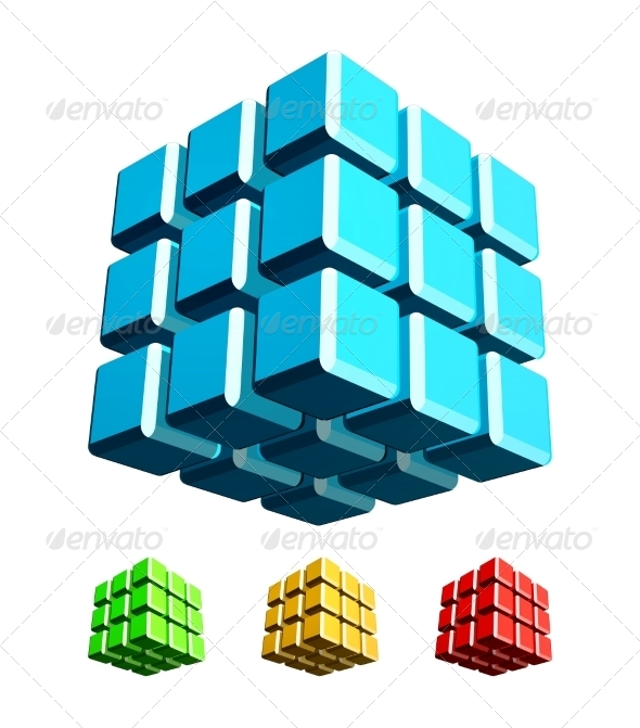 3D Cube  - Abstract Conceptual