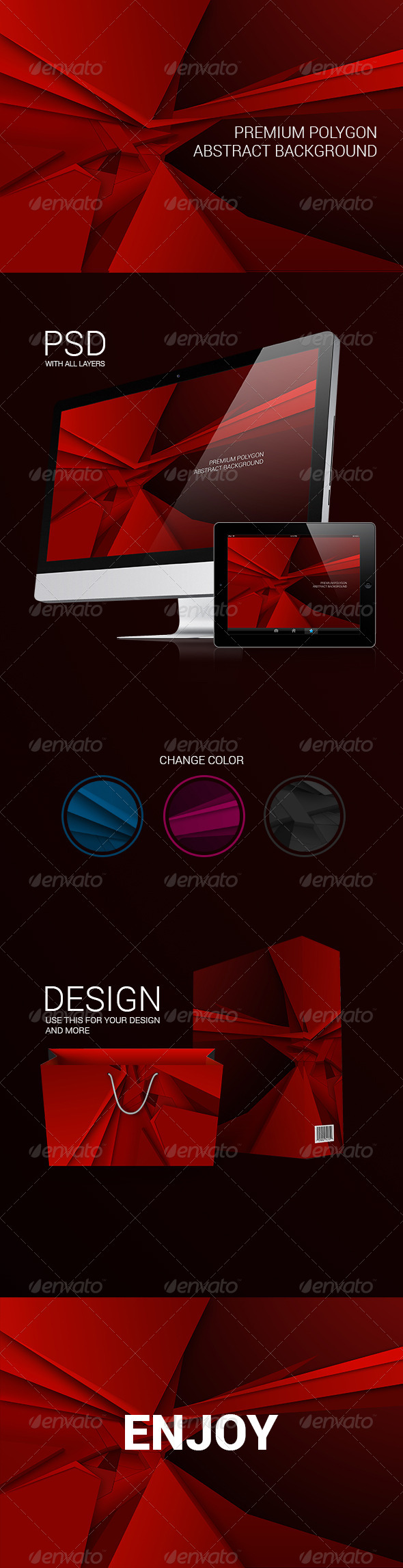 Premium Abstract Polygon Background - Backgrounds Graphics