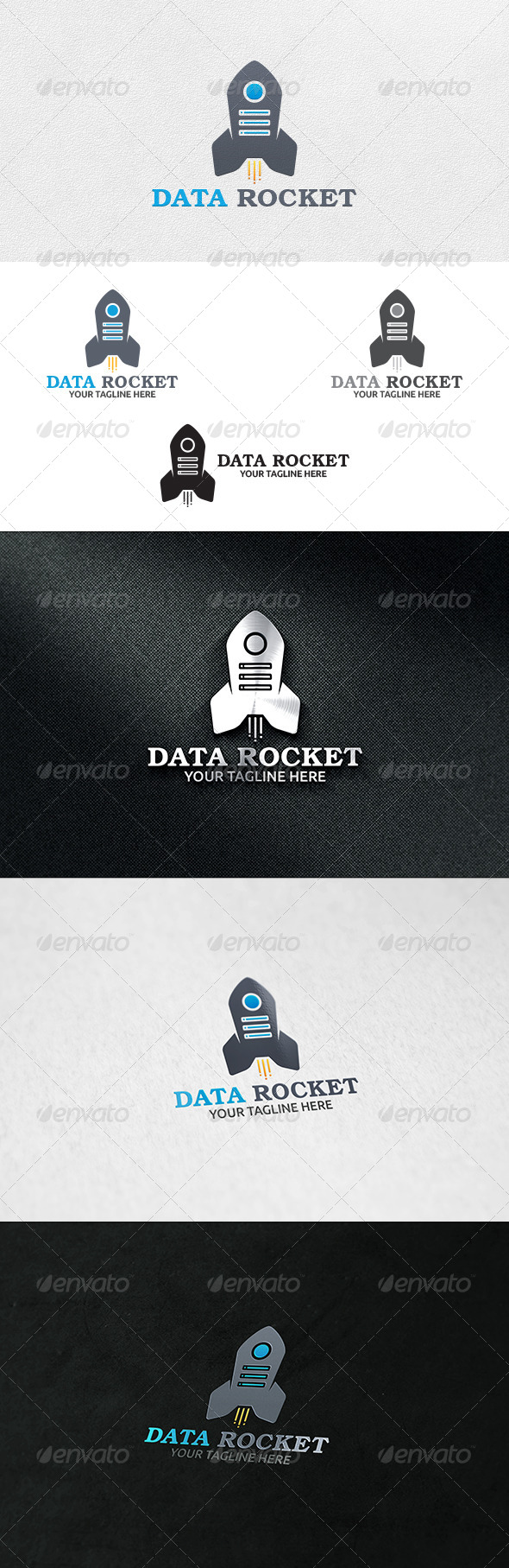 Data Rocket - Logo Template - Objects Logo Templates