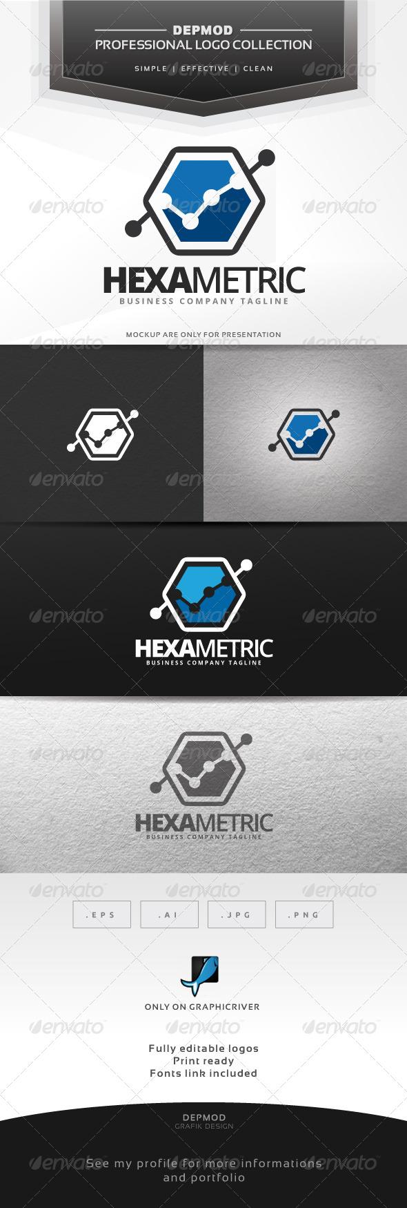 Hexa Metric Logo - Symbols Logo Templates