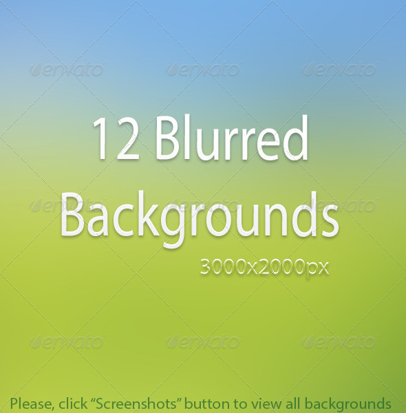 12 Blurred Backgrounds - Abstract Backgrounds