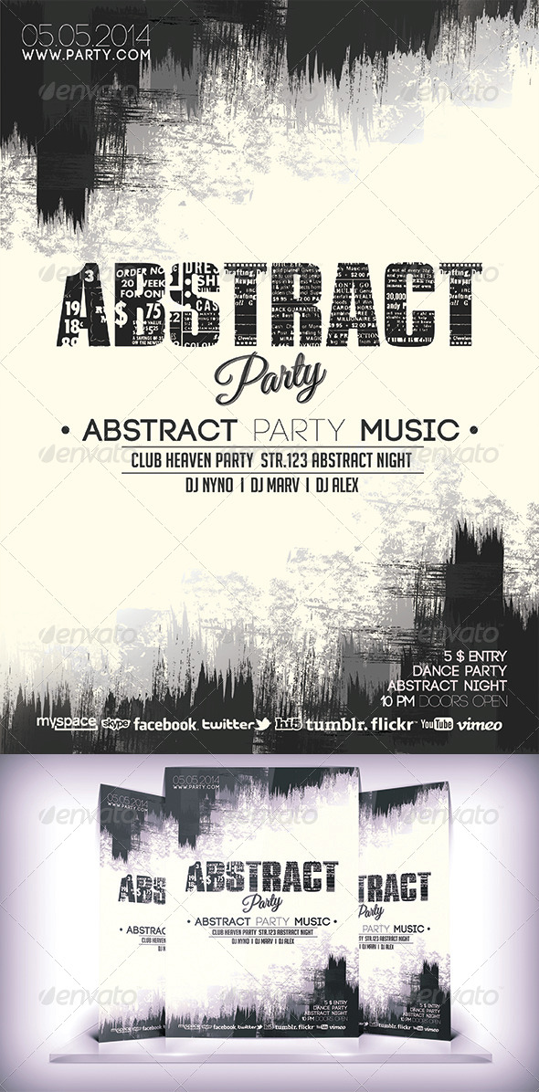 Abstract Party Flyer - Flyers Print Templates