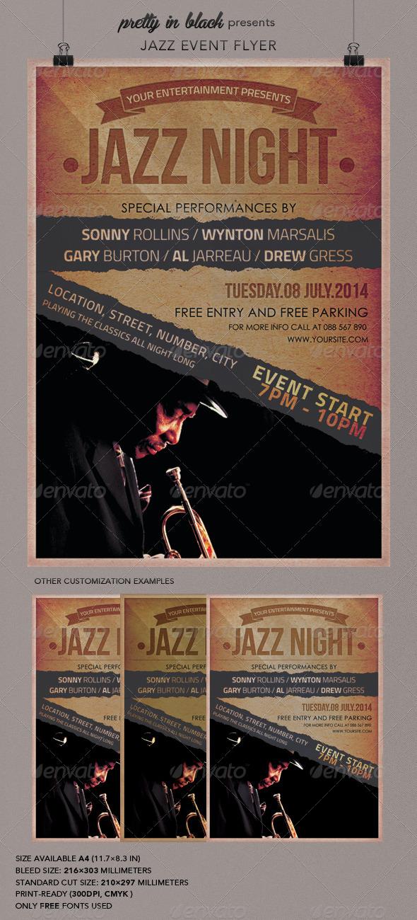 Jazz Event Flyer - Flyers Print Templates