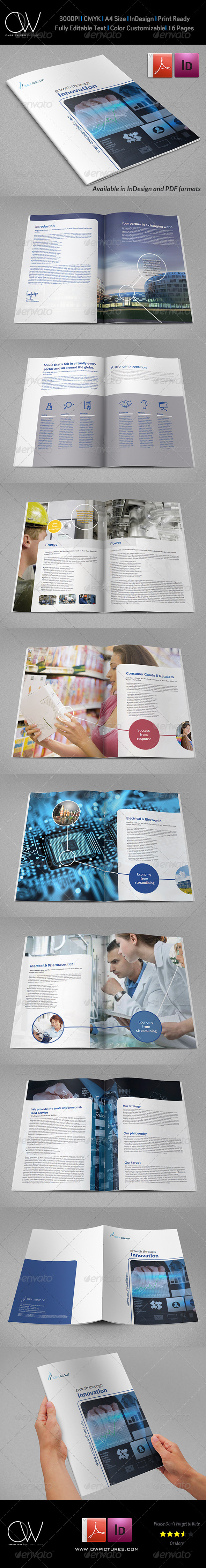 Corporate Brochure Template Vol.27 - 16 Pages - Corporate Brochures