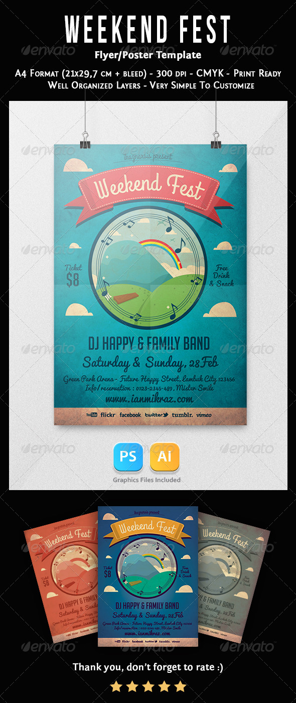 Weekend Fest Flyer Template - Concerts Events