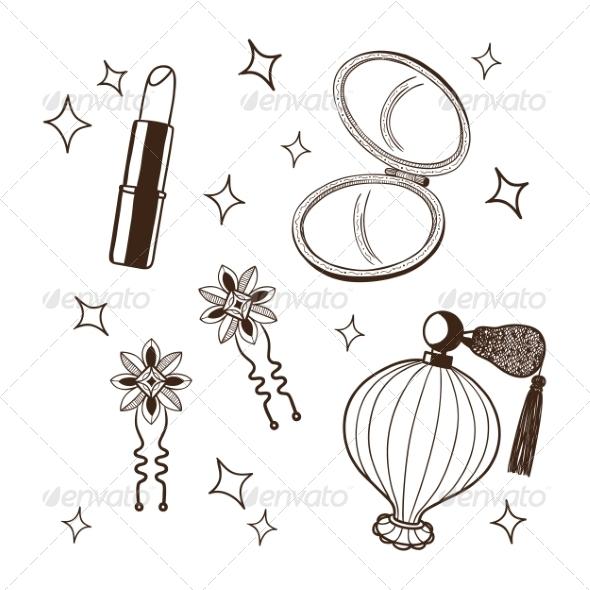 Women's Accessories Set - Miscellaneous Vectors