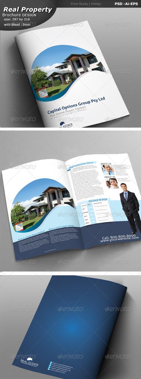 Real Estate Brochure Design  - Brochures Print Templates