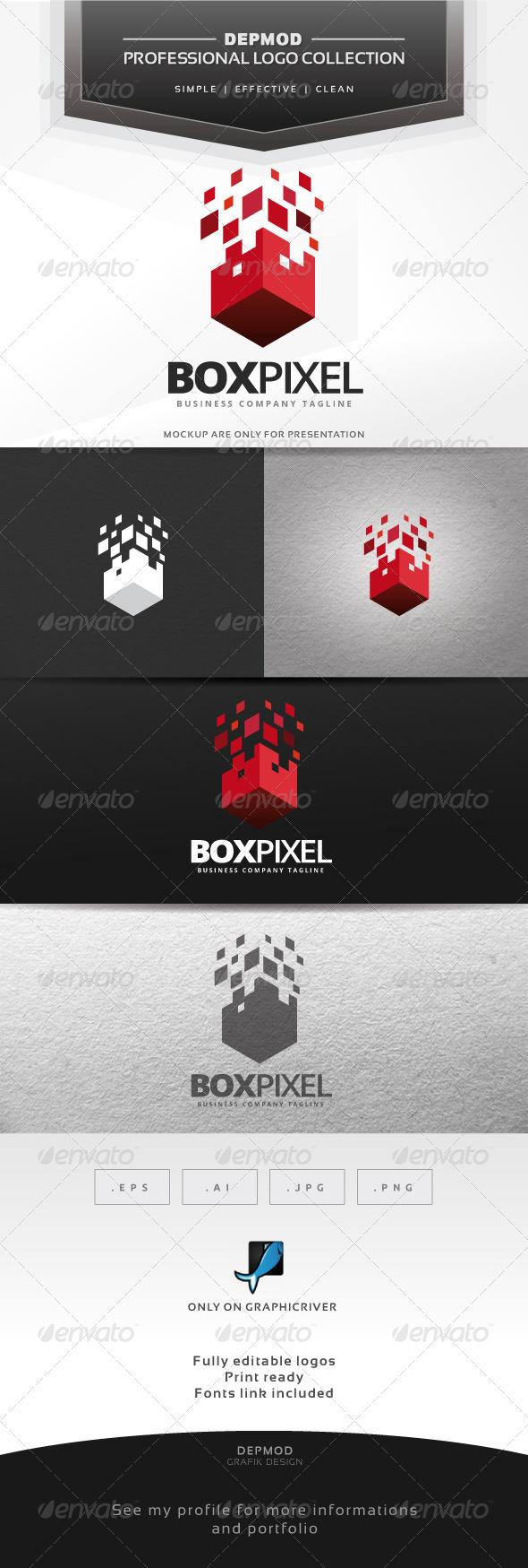 Box Pixel Logo - Abstract Logo Templates