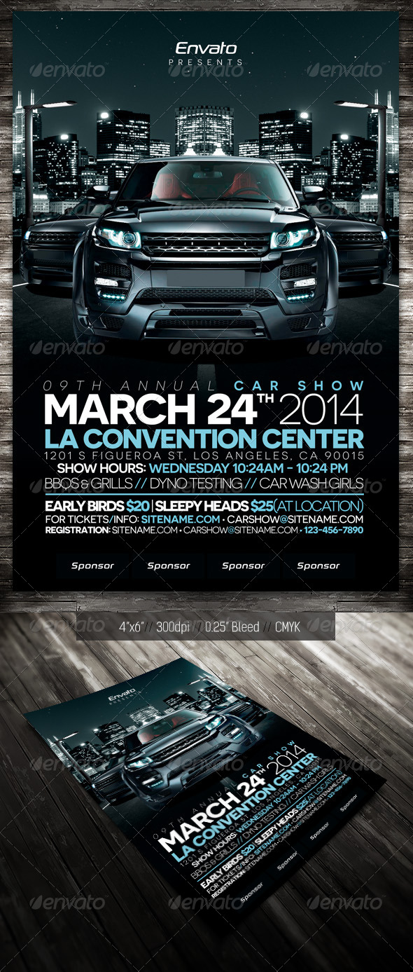 Car Show - City - Events Flyers