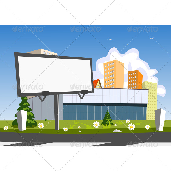Billboard Advertising and Store - Buildings Objects