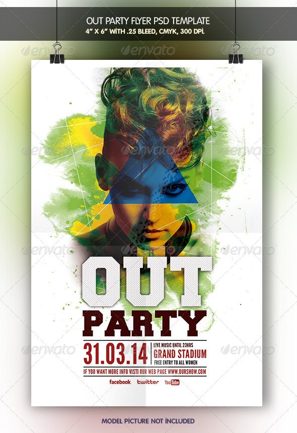 Out Party | Flyer Template - Clubs & Parties Events