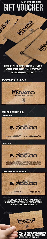 Minimal gift voucher - cardboard - Cards & Invites Print Templates