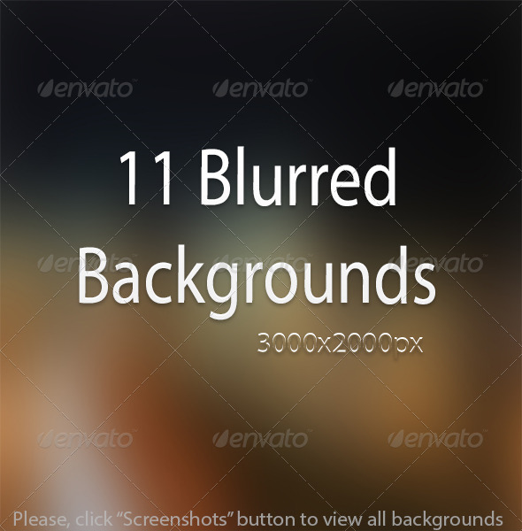 11 Creative Blur Backgrounds  - Backgrounds Graphics
