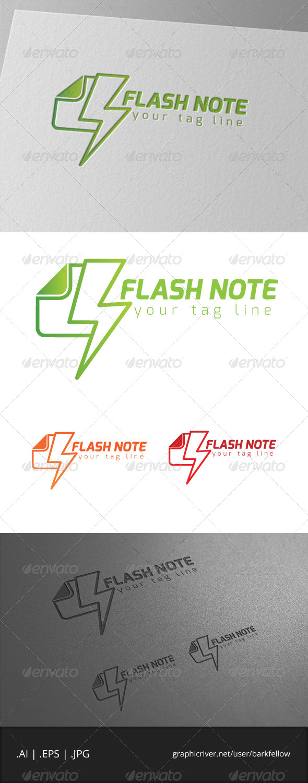 Flash Note Logo - Symbols Logo Templates