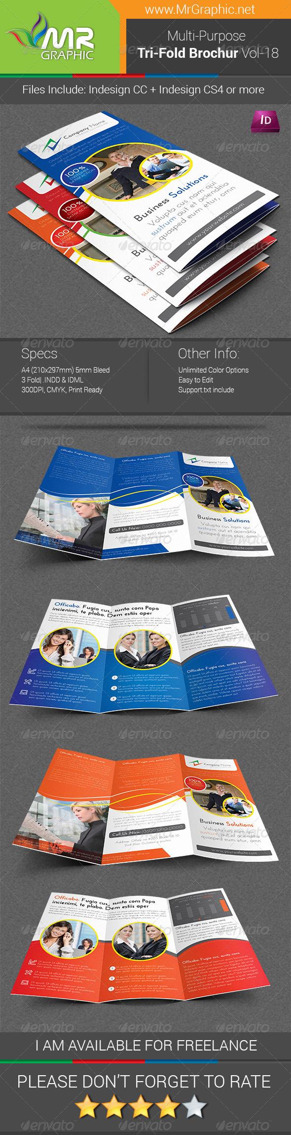 Multipurpose Business Tri-Fold Brochure Vol-18 - Corporate Brochures