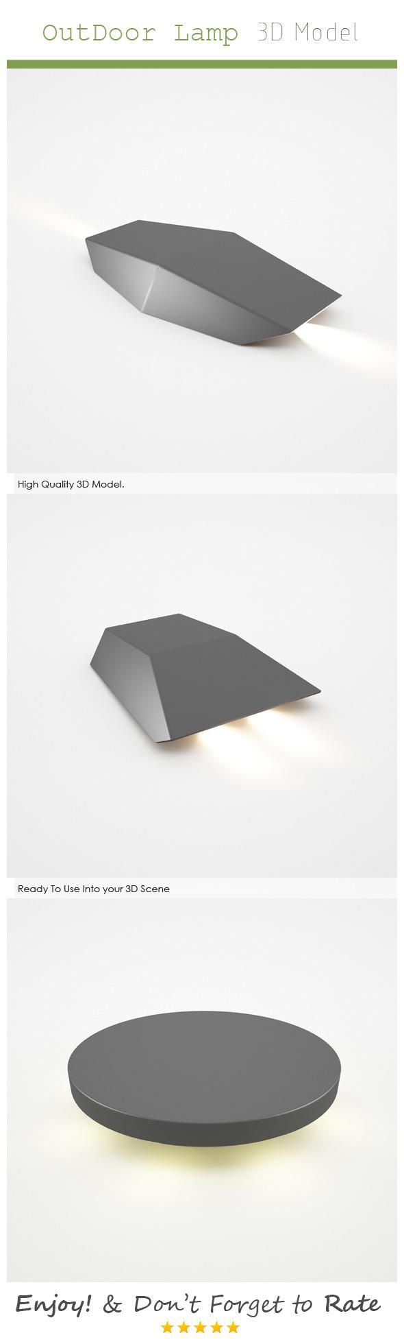 Outdoor Lamp 3D Model - 3DOcean Item for Sale