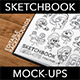Sketchbook Mockups with editable background - GraphicRiver Item for Sale