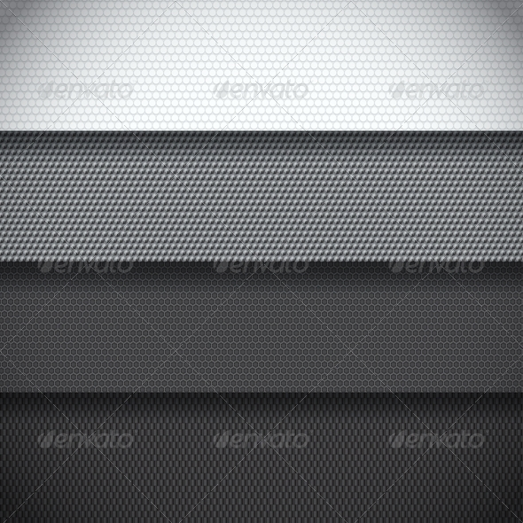 Background of Four Carbon Fiber Patterns - Backgrounds Decorative