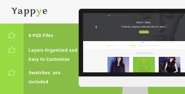 Yappye – PSD E-Commerce Template