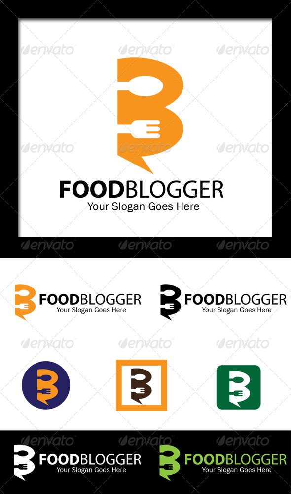 Food Blogger - Letter B Logo - Food Logo Templates