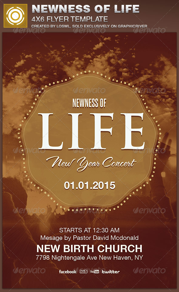 Newness of Life Church Flyer Template - Church Flyers