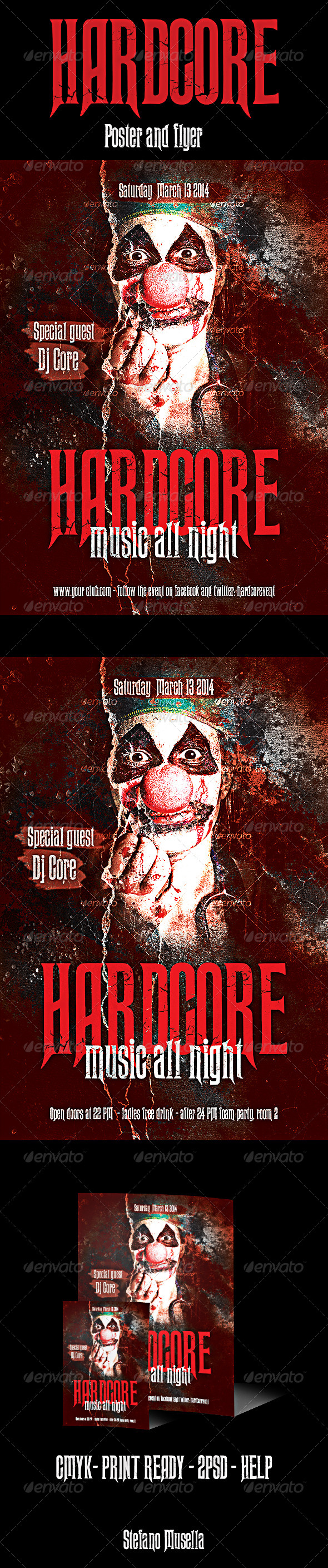 Hardcore Poster and Flyer - Events Flyers