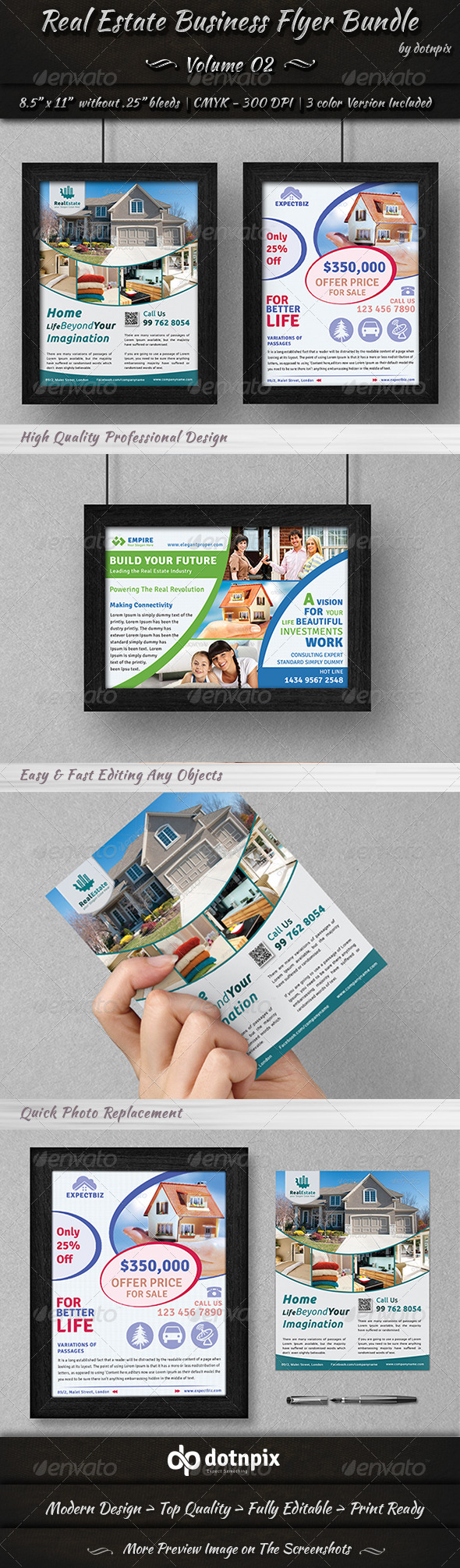 Real Estate Business Flyer Bundle | Volume 2 - Corporate Flyers
