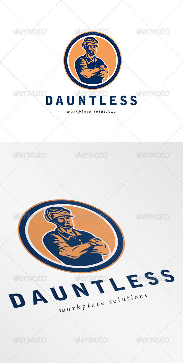 Dauntless Workplace Solution Logo - Humans Logo Templates