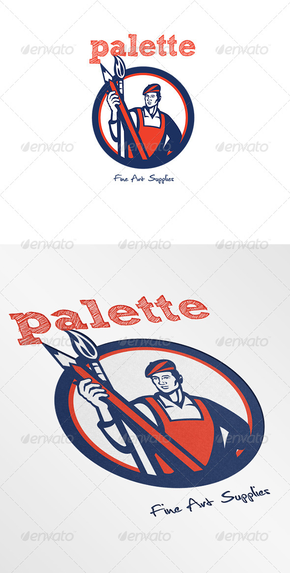 Palette Fine Art Supplies Logo - Humans Logo Templates