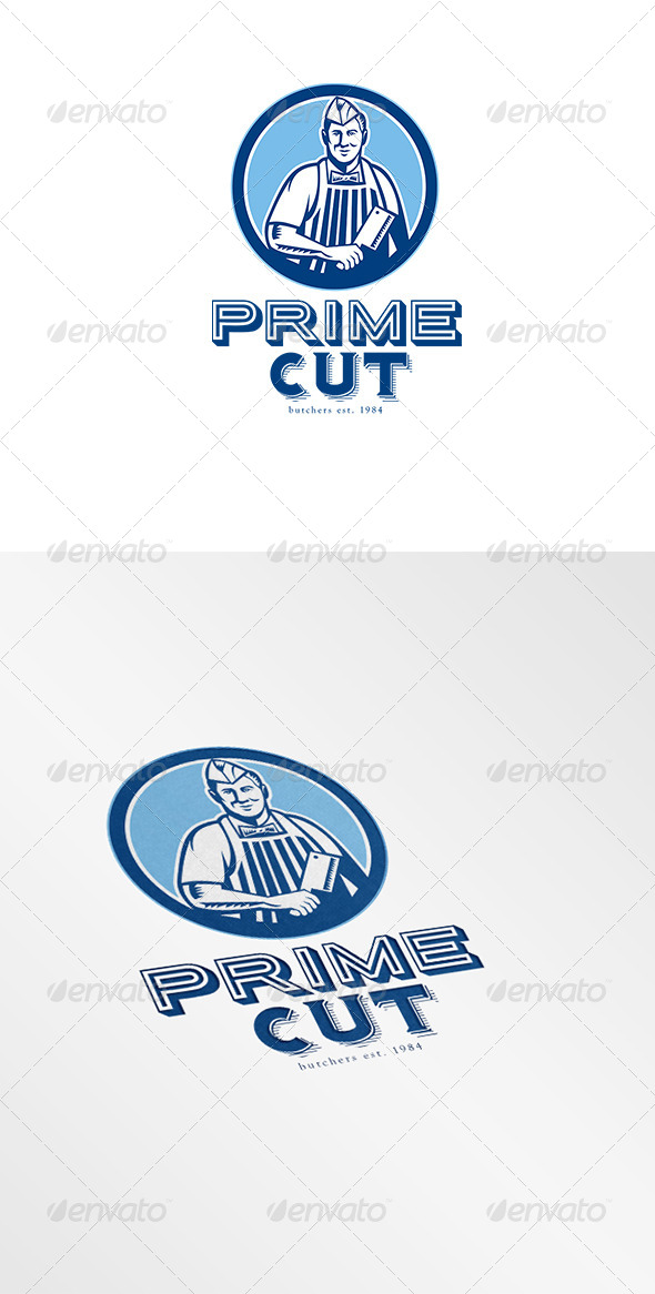 Prime Cut Butcher Logo - Humans Logo Templates
