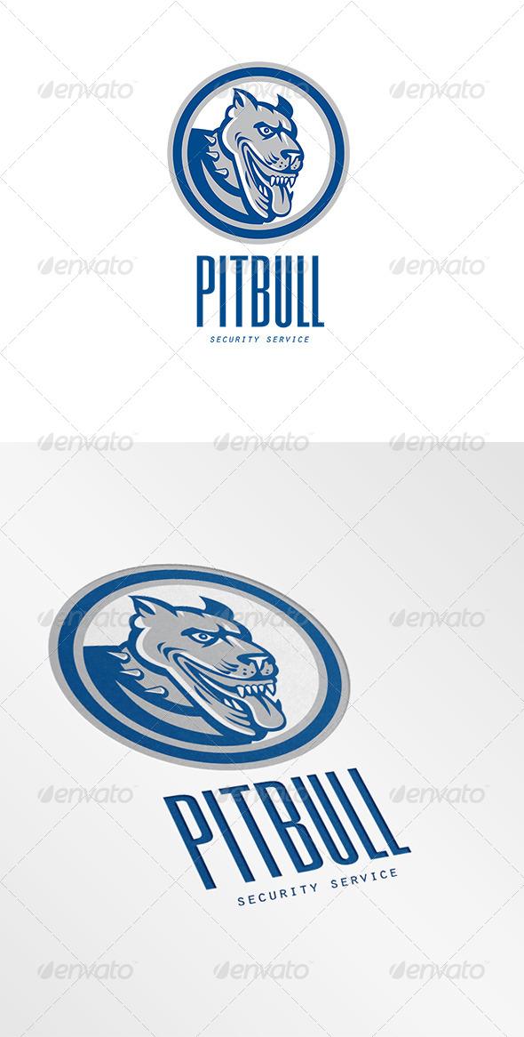 Pitbull Security Services Logo - Animals Logo Templates