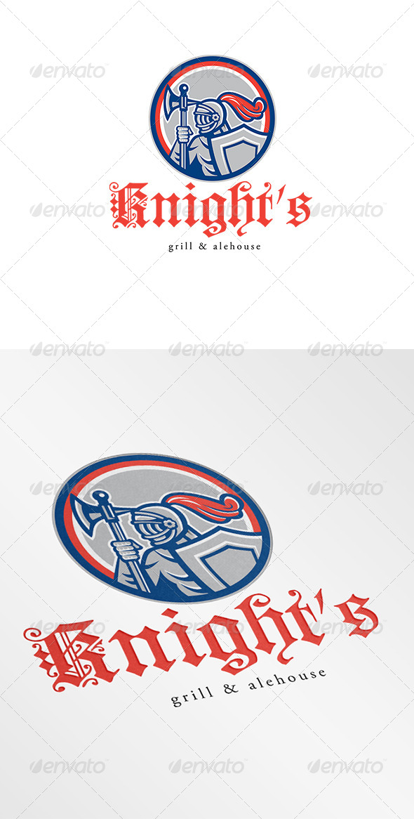 Knight Grill and Alehouse Logo - Humans Logo Templates